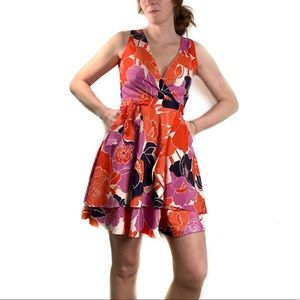 Banana Republic 0 2-tier floral fit n flare dress